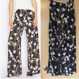 MISS SELFRIDGE Tropical Print Wide Leg Pants